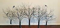 Vintage Curtis C. Jere Trees Wall Art Sculpture Brutalist Mid Century Modern