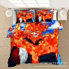 My Hero Academia Endeavour 3PCS Bedding Set Duvet Cover Pillowcases Quilt Cover
