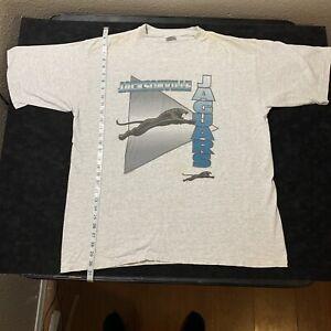 VINTAGE Starter JACKSONVILLE JAGUARS T shirt Adult XL Old Logo Made in USA 1993