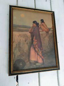 vintage native american prints