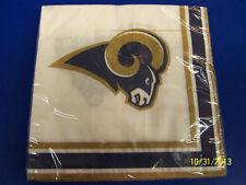 Saint Louis Rams St NFL Pro Football Sports Banquet Party Paper Luncheon Napkins