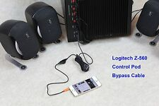 Logitech Z560 Wired Remote Bypass Cable with volume control Computer Speaker