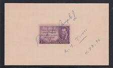 Robert B. Semple, Jr , 1996 Pulitzer Prize winner, signature on 3X5 card, Vf