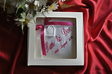 PERSONALISED Wedding ring cushion/pillow with rings BOX-20cm x 20cm ( IN BOX)