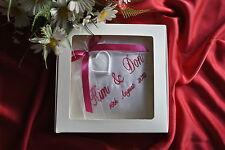 personnalisé Anneau bague de mariage coussin / oreiller avec support BOITE