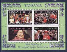 BLOC   Tanzanie  60 aire de SM la reine Elizabeth II   num 52 **