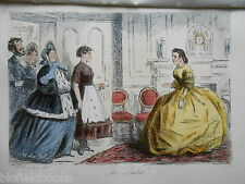 Hand Coloured Victorian Print of 'The Ladies' - c1880 (Mr Romford's Hounds)