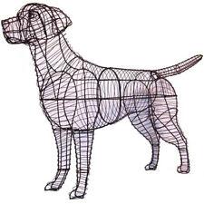 Labrador Retriever Dog Metal Wire Topiary Frame