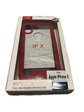 Zizo ION Series Case For Apple iPhone X Red Clear