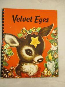 Vintage Charlot Byi Velvet Eyes Christmas Book