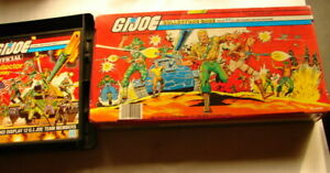 "Gi Joe 3 3/4"" vintage 80's lot of Carry cases vinyl  plastic 1983"