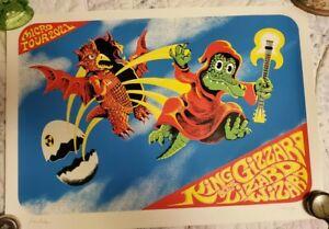 KING GIZZARD 2021 Micro Tour Jason Galea Signed Poster RARE OVERPRINT 1034/1000