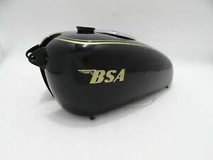 New Bsa M20/21 Dlx/M22/M23/24 Black Paint Golden Lining Petrol Tank