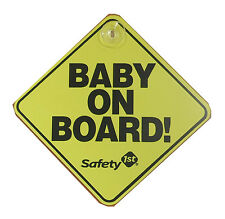 NEW Safety 1st BABY ON BOARD sign YELLOW