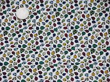 Mulit Colored LADYBUGS Off White Backround Fabric 2 pcs 2 yds ea FREE SHIPPING