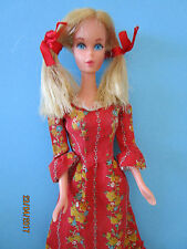 B488- ALTE VINTAGE BARBIE MATTEL KOREA BEST BUY KLEID #3360 MATTEL 1972+STIEFEL