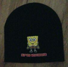 Spongebob Squarepants 2005 Nickelodeon Black Winter HAT men's One Size Fits Most