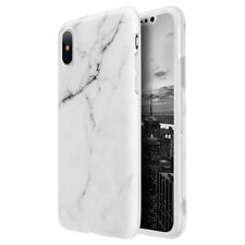 for iPhone 7 Marble Case Stone Pattern Texture Soft Flexible GEL Slim Thin Cover White