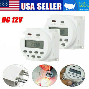 Timer Switch DC 12V ON/OFF Weekly Programmable LCD Digital Light Time Relay