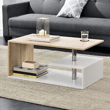 B-WARE Couchtisch Weiß/Eiche Tisch Beistelltisch Wohnzimmertisch Sofatisch