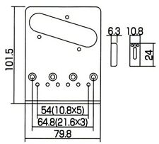 Gotoh GTC-202C Tele® Style Electric Guitar Bridge - Chrome - Made in Japan