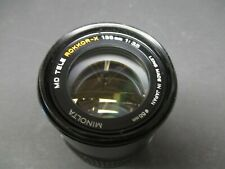 Minolta MD Tele Rokkor-X 135mm lens 3.5 with built in lens hood Made in Japan