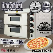 Commercial Pizza Deck Oven - Double - Countertop - Electric - Stone Base