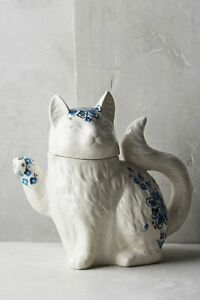 NWT Anthropologie Elise Cat Teapot