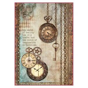 Rice Paper - Decoupage - Stamperia - 1 x A4 Size Sheet - Hanging Clocks