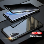 360 Full Magnetic Glass Anti-Spy Case For Samsung S21 S20 S10 S9S8 Note 20 10 98