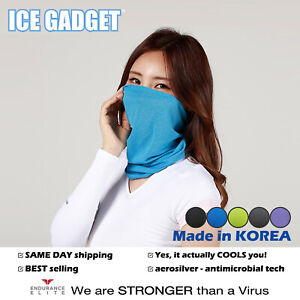 Ice Gadget Cooling Neck Gaiter Face Mask Tube Scarf-Cycling Fishing Running