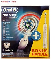 BRAUN ORAL B PRO 5000 ELECTRIC TOOTHBRUSH DUAL HANDLE PACK. BRAND NEW!