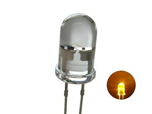 S624 - 10 Piece Flickering Leds 0 3/16in Yellow Clear Light For Campfire Candles