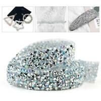 Bling Crystal Rhinestone Ribbon Wedding Dress DIY Craft Sewing Decor Trims 1Yard