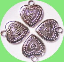 Metallische, metalle Herz-Perlen