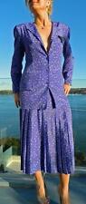 VINTAGE ARC Sydney 1980s Original High Shoulders Jacket-Pleated Skirt