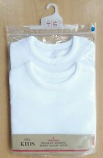 2-Pack Baby M&S White Short Sleeve Regular Warmth Thermal Vests 18-24 Mths BNIP