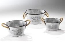 Pflanzgefäße - 3er Set - Pflanztöpfe - Blumentöpfe - Garten - Dekoration