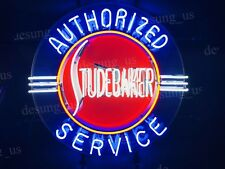 """New Studebaker Authorized Service Light Neon Sign 24"""" with Hd Vivid Printing"""
