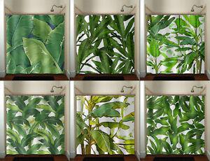 Tropical Jungle Palm Banana Leaf shower curtain Brazilliant Green