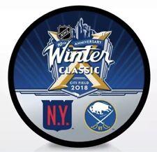 2018 NHL WINTER CLASSIC SOUVENIR PUCK BUFFALO SABRES NEW YORK RANGERS