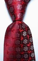 New Classic christmas style Red White JACQUARD WOVEN 100% Silk Men's Tie Necktie