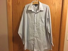 Men's Dockers Blue Stripped Button Down Dress Shirt Size XL 17/17.5  34/25