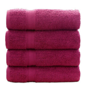 HURBANE HOME 4 Pack 700 GSM Cotton Bath Towels Set 28x55 Inches Towels