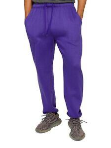 Men's Gym Workout Lightweight Fleece Drawstring Elastic Cuff Sweatpants  FL78EY