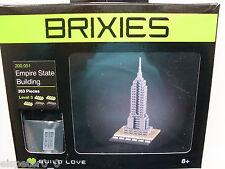 Brixies 200.051 - Empire State Building, 3d puzzle, mini bloques de creación 353 piezas