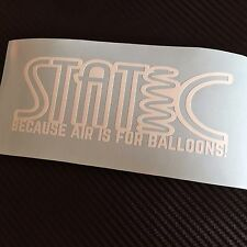 GLOSS WHITE STATIC because air is for balloons Car Sticker Decal Stance VDUB JDM