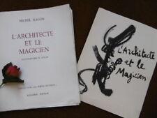 RAGON MICHEL : L' ARCHITECTE ET LE MAGICIEN ...1951 (EDITION  ORIGINALE  °