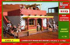 BUM Models 1/72 THE ALAMO SAN ANTONIO DE BEJAR HOUSE Wood House & Figure Set #4