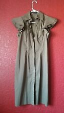 bcbg maxazria dress button down olive green flared half sleeve sexy 2